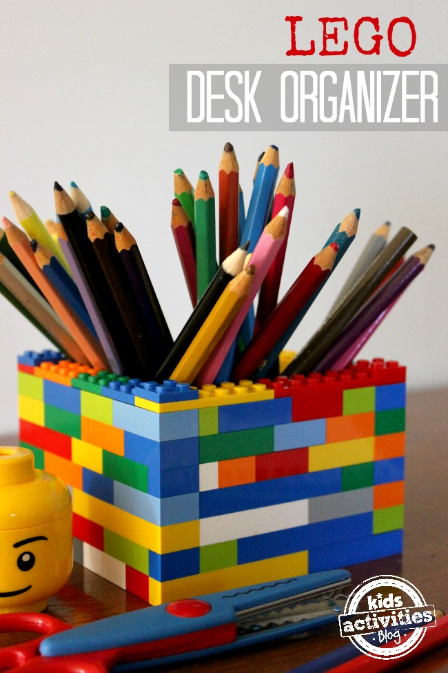 LEGO Desk Organizer from Kids Activities Blog