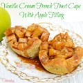 Vanilla Cream French Toast Cups with Apple Filling - delicious for breakfast or lunch! At Little Miss Celebration