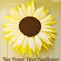 Big Paper Twist Door Flower Take Two! Sunflower! A fun change from a wreath at Little Miss Celebration @iCindyEikenberg