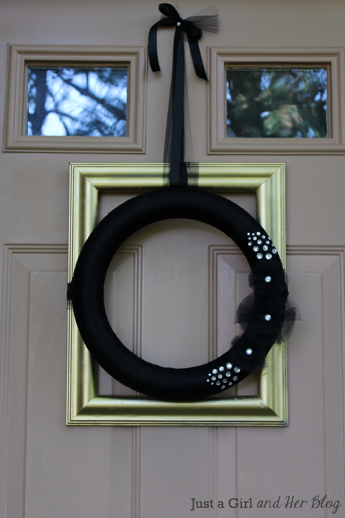 Glam Fall Wreath from Just A Girl and Her Blog