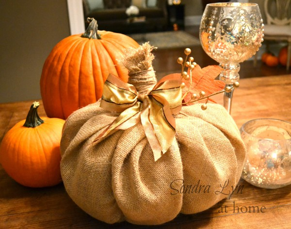 How to Make A Burlap Pumpkin from Sondra Lyn At Home