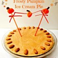 It's a very pumpkin birthday celebration with a side of cool! Frosty Pumpkin Ice Cream Pie - easy, quick and delicious! littlemisscelebration.com