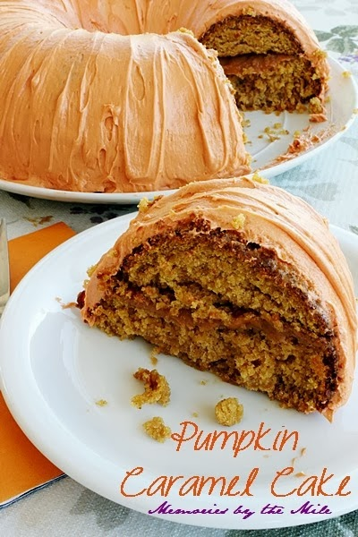 Pumpkin Caramel Cake from Memories by the Mile
