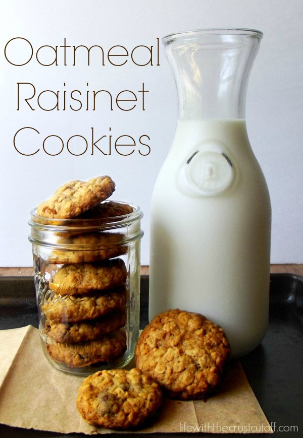 Oatmeal Raisinet Cookies from Life with the Crust Cut Off