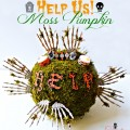 Help Us! Moss Pumpkin - A fun faux pumpkin craft to bring a little creep factor to Halloween! From littlemisscelebration.com #halloween