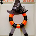 A little quirky, whimsical and fun! It's A Trick for a Treat Halloween Wreath at littlemisscelebration.com #halloween