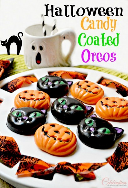 Halloween Candy Covered Oreos Little Miss Celebration