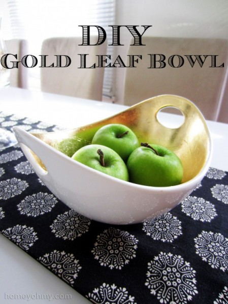 DIY Gold Leaf Bowl from Homey Oh My!