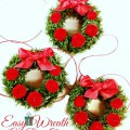 Easy Wreath Gift Box Toppers from the archives - a fast and fun gift or ornament!