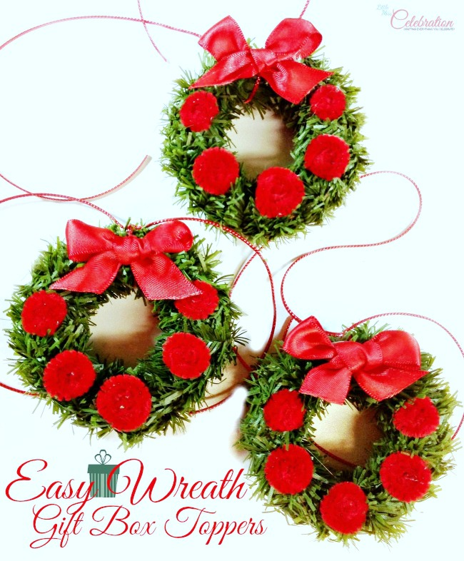 Easy Wreath Gift Box Toppers (From the Archives)