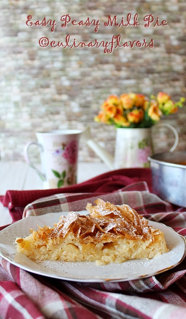 Easy Peasy Milk Pie from Culinary Flavors