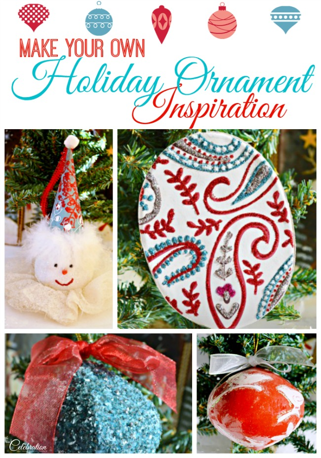 Make your own holiday ornament inspiration - gather up the family and create your own special ornaments! From littlemisscelebration.com