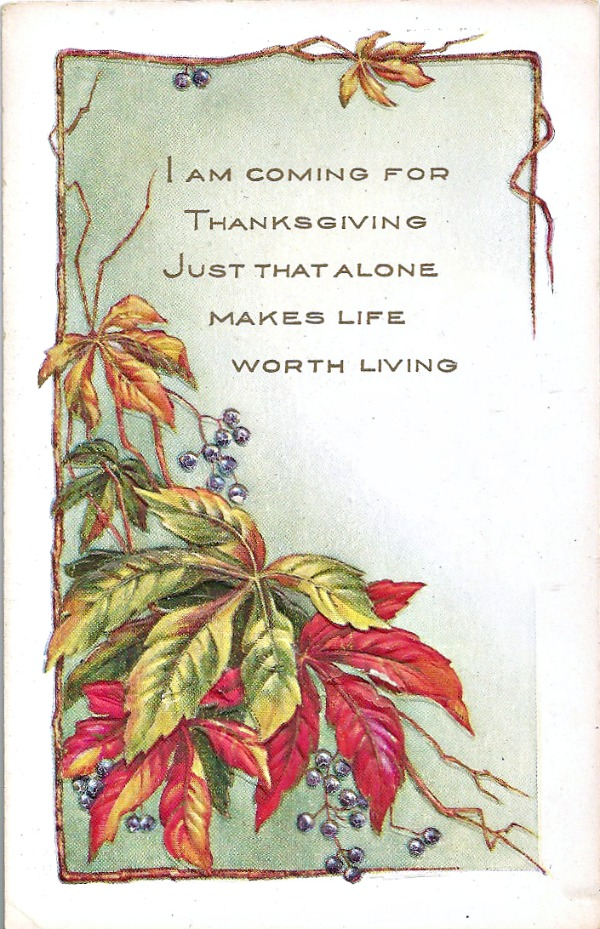 Vintage Thanksgiving Postcards at littlemisscelebration.com