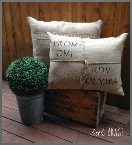 DIY Pillows and Table Runner from Little Brags