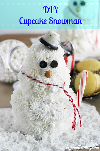 DIY Cupcake Snowman from Beyond Frosting