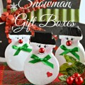 Snowman Gift Boxes - With A Secret! An adorable way to give a small gift or money, with a smile and secret message! From littlemisscelebration.com