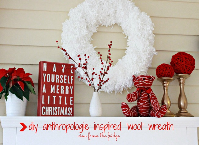 Anthropologie Inspired Wool Wreath from View From The Fridge