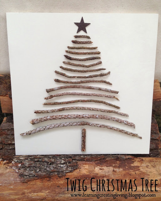 Twig Christmas Tree from Learning, Creating, Living