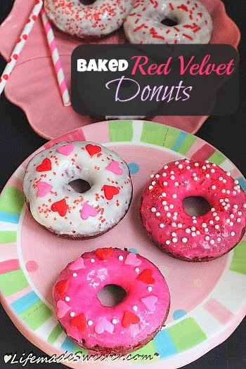 Baked Red Velvet Donuts from Life made Sweeter