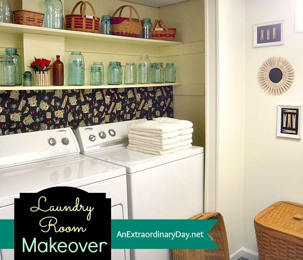 Laundry Room Makeover from An Extraordinary Day