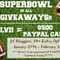 Super Bowl Giveaway - Win $500 in Paypal cash, plus great recipes to get ready for the big game!