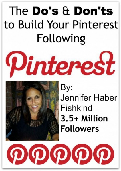 The Do's and Don'ts to Build Your Pinterest Following from Princess Pinky Girl