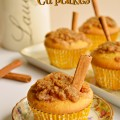 Cinnamon Swirl Cupcakes with Cinnamon Praline Topping-start with a box mix and the topping is so delicious, you won't miss frosting on these! At littlemisscelebration.com