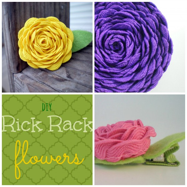 DIY Rick Rack Flowers from madly wish