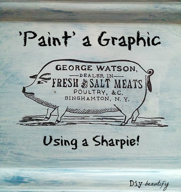 How To Paint A Graphic Using A Sharpie from DIY Beautify