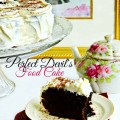 Perfect Devil's Food Cake with Cream Cheese Frosting - a great go-to cake! Not too sweet and great partner to ice cream! At littlemisscelebration.com