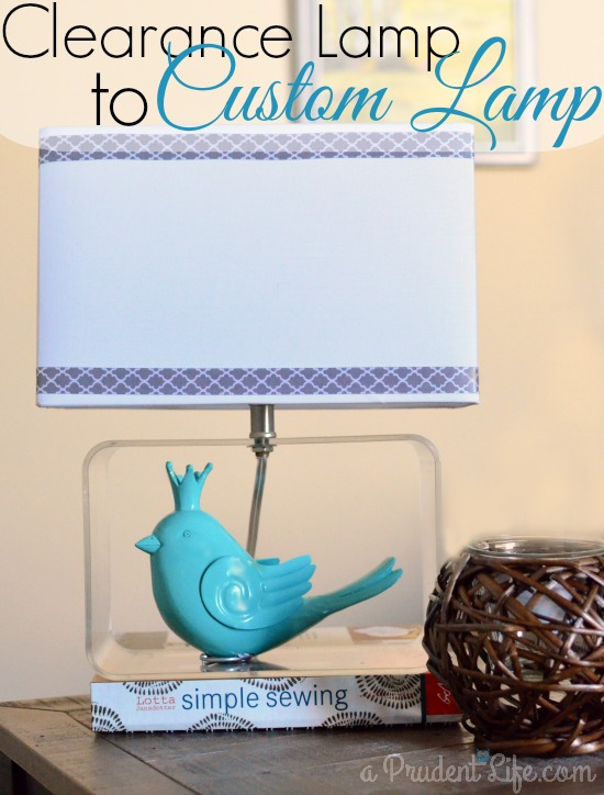 Clearance Lamp to Custom Lamp by A Prudent Life