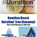 Get steamed! All about the Hamilton Beach #Durathon iron and a chance to win your own! At littlemisscelebration.com