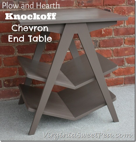 Plow and Hearth Knockoff Chevron End Table by Virginia Sweet Pea