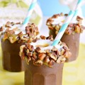 Inspired by my favorite Easter egg, these Caramel Pecan Milkshake Shooters in Chocolate Cups are a creamy, sweet and totally fun treat for all our big and little bunnies!