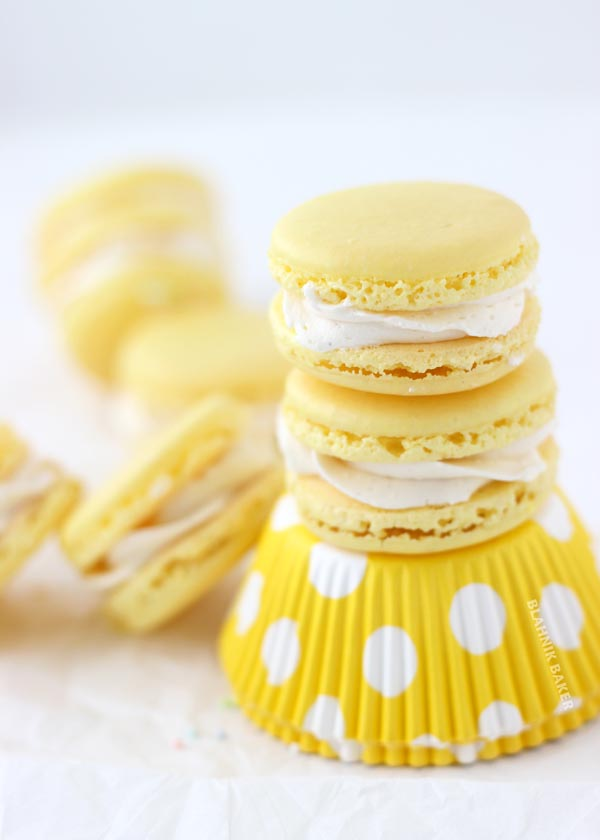 Lemon Macarons from Blahnik Baker