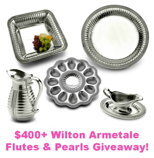 Win these pieces from the Wilton Armetale Flutes and Pearls Collection, valued at over $400! At littlemisscelebration.com