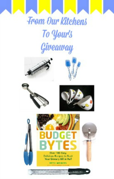 From Our Kitchens to Yours - A fun giveaway of blogger favorite kitchen gadgets! At littlemisscelebration.com