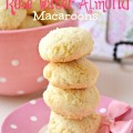 Beautifully textured, perfectly sweet with a hint of rose, Rose Water Almond Macaroons is an 1818 recipe for today's kitchen! From littlemisscelebration.com