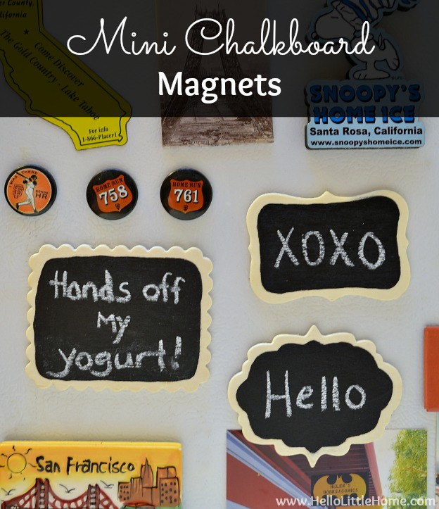 Mini Chalkboard Magnets by Hello Little Home