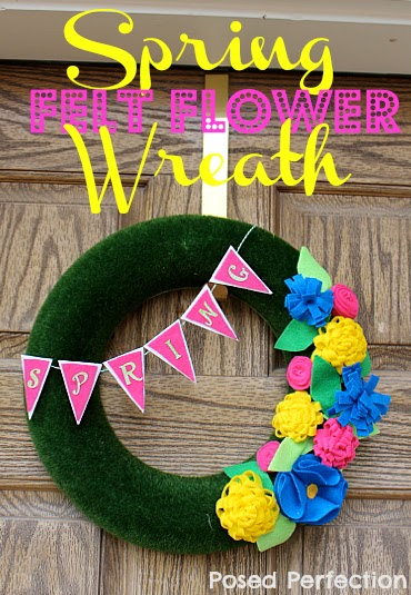 Spring Felt Flower Wreath from Posed Perfection