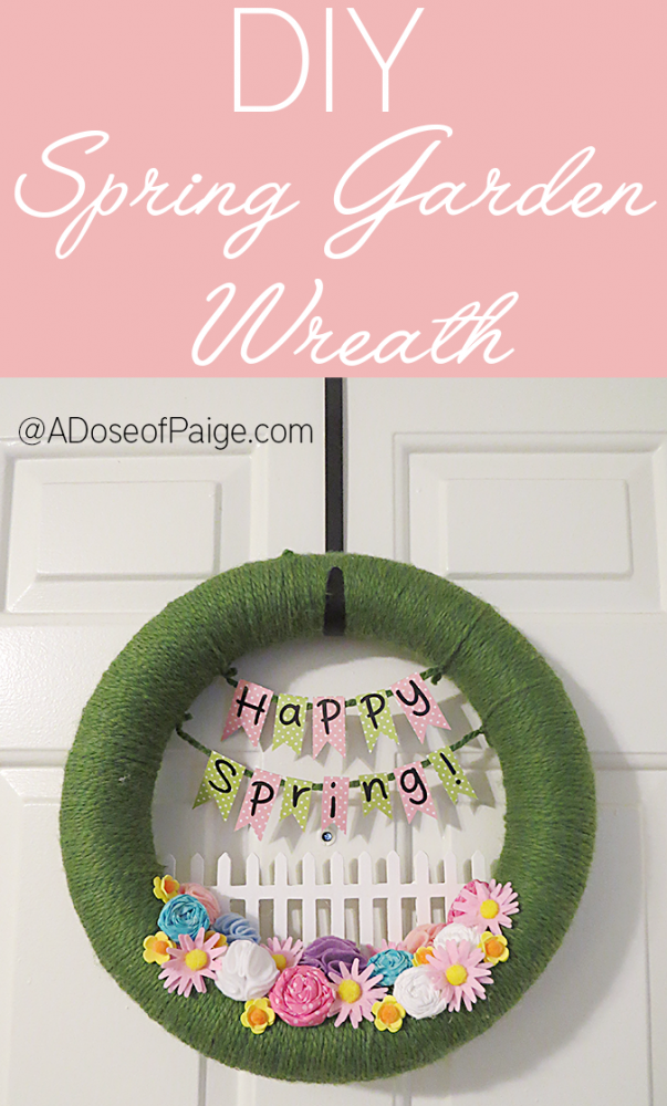 DIY Spring Garden Wreath from A Dose of  Paige