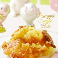 Easy and delicious Pineapple Soufflé Bake makes a wonderful side dish to ham OR serve it as dessert with ice cream! From littlemisscelebration.com