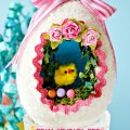 """If you loved finding sugar eggs in your Easter basket, this DIY Foam """"Sugar"""" egg is easy, pretty, cavity and calorie free! From littlemisscelebration.com"""