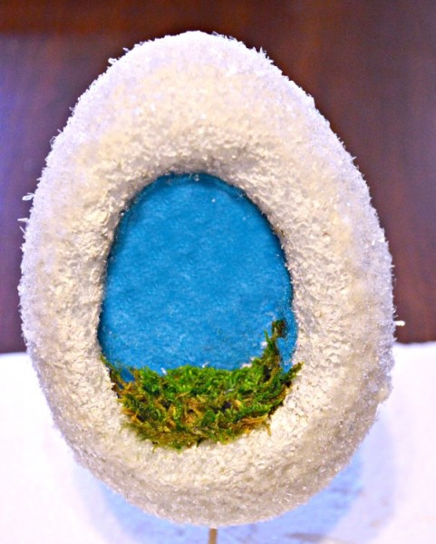 "If you loved finding sugar eggs in your Easter basket, this DIY Foam ""Sugar"" egg is easy, pretty, cavity and calorie free! From littlemisscelebration.com"