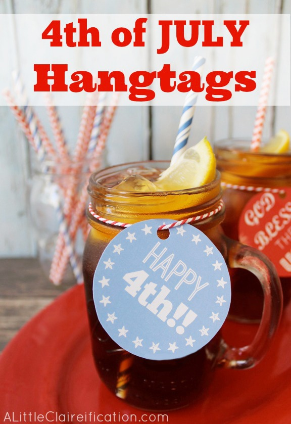 Free Printable 4th of July Hangtags from A Little Claireification