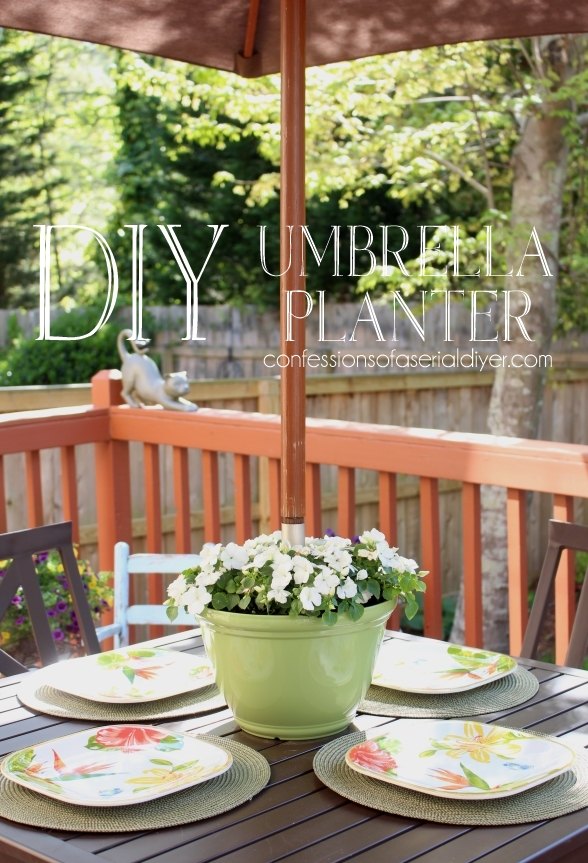 DIY Umbrella Planter from Confessions of a Serial Do-It Yourselfer