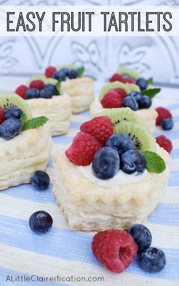 Easy Fruit Tartlets from A Little Claireification