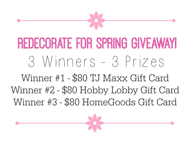 Redecorate for Spring Giveaway!