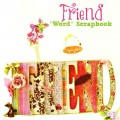 "A Friend ""Word"" scrapbook is a perfect gift for grad BFF's, bridesmaids and your dear friend! From littlemisscelebration.com"