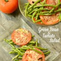 Green Bean & Tomato Salad combines color, texture & little Italian flavor for an easy & fresh summer salad! At littlemisscelebration.com